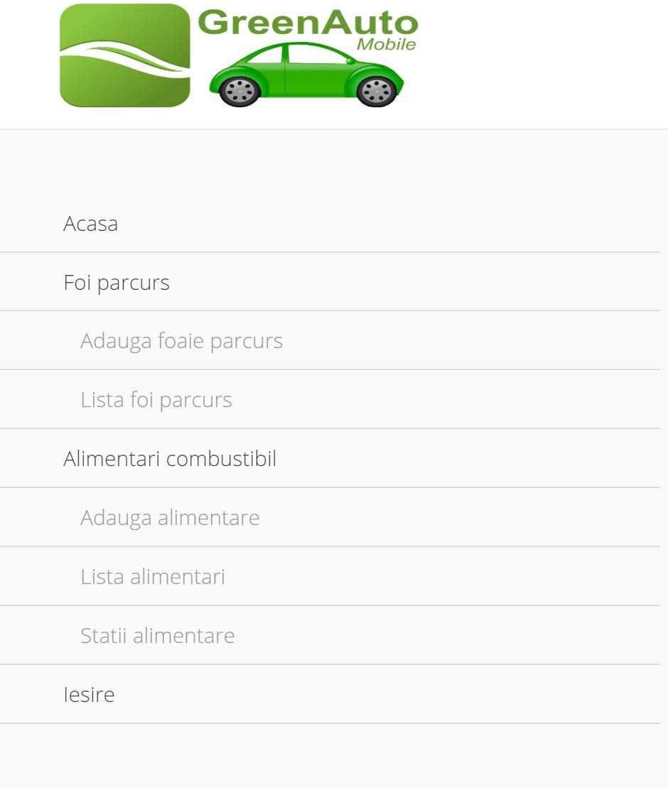 Aplicatia Green Auto Mobile